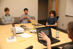UNC Class Checker student developers meet with ITS