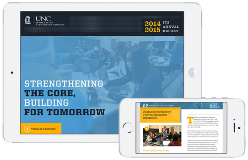 screen grabs of tablet and smartphone 2014-15 report