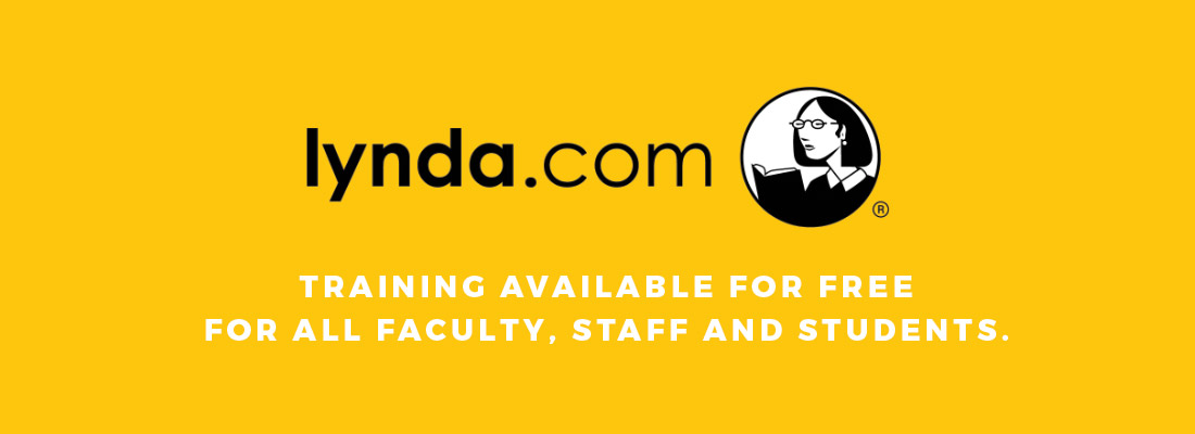 Lynda.com training courses are available for free for all faculty, staff and students. Visit lynda.unc.edu to learn more.