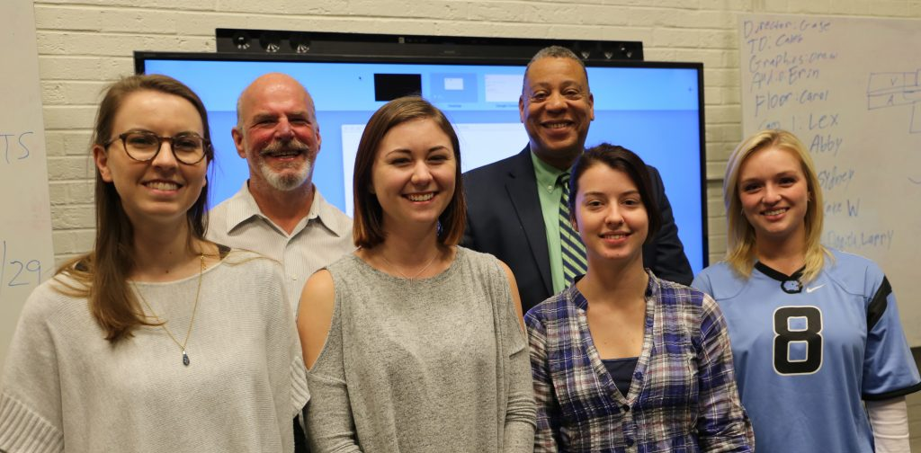 Contest winners with Tim Cline of ITS and Professor Willis Smith