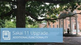 Sakai 11 Upgrade