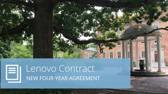 A photo of the Old Well with the headline Lenovo Contract - New Four-Year Agreement.
