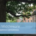 """Old Well image with the words, """"ITS Middleware Services, Key Service Offerings"""""""