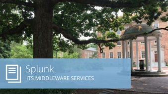 Photo of Old Well and the words Splunk ITS Middleware Services
