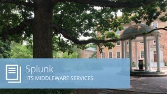 Splunk at UNC-Chapel Hill ITS: statistics, factoids and