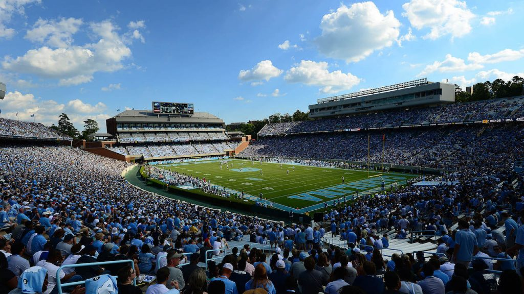 Kenan Stadium packed with spectators for a football game