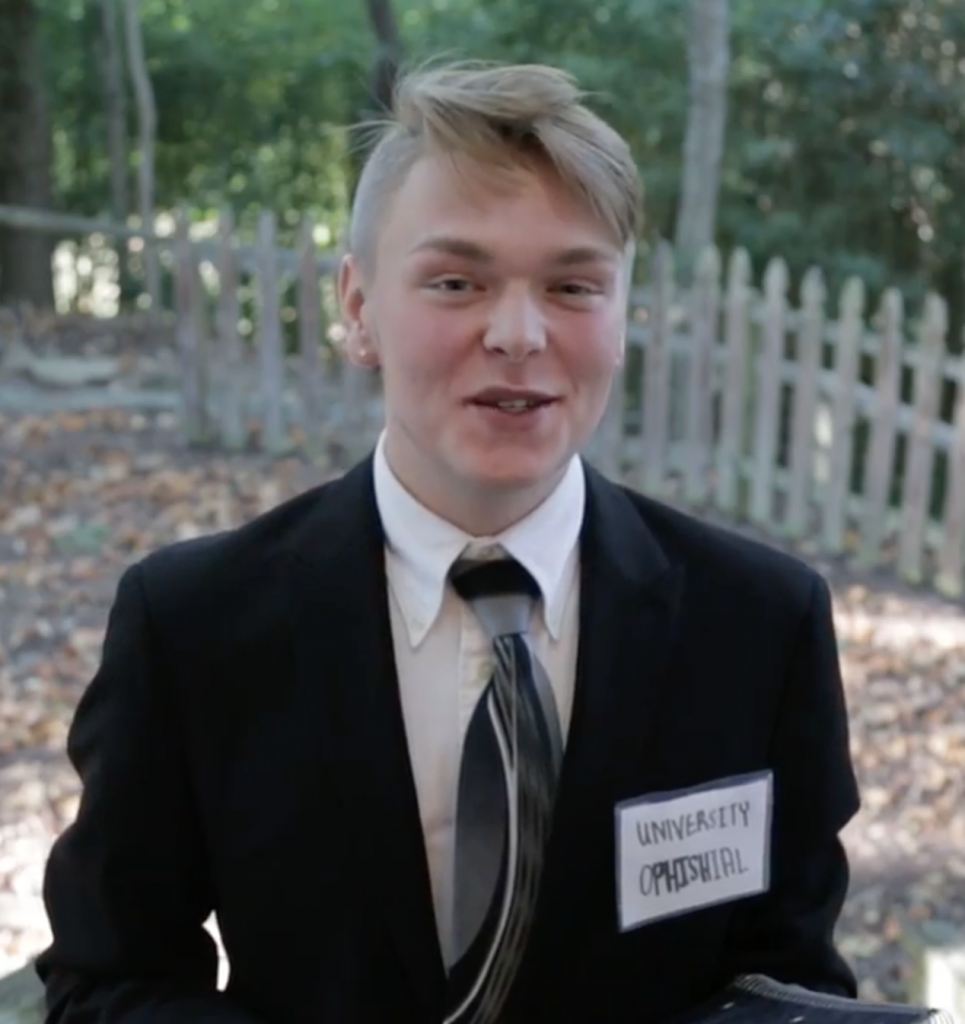 Jacob Sawyer as a phisher in the video