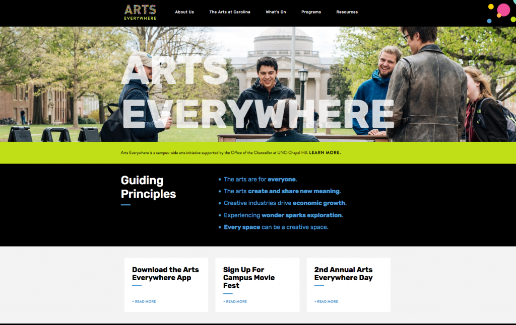 Arts Everywhere home page