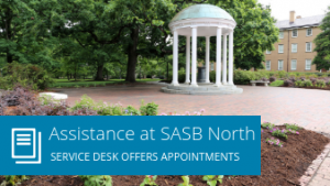 Assistance at SASB North: Service Desk offers appointments