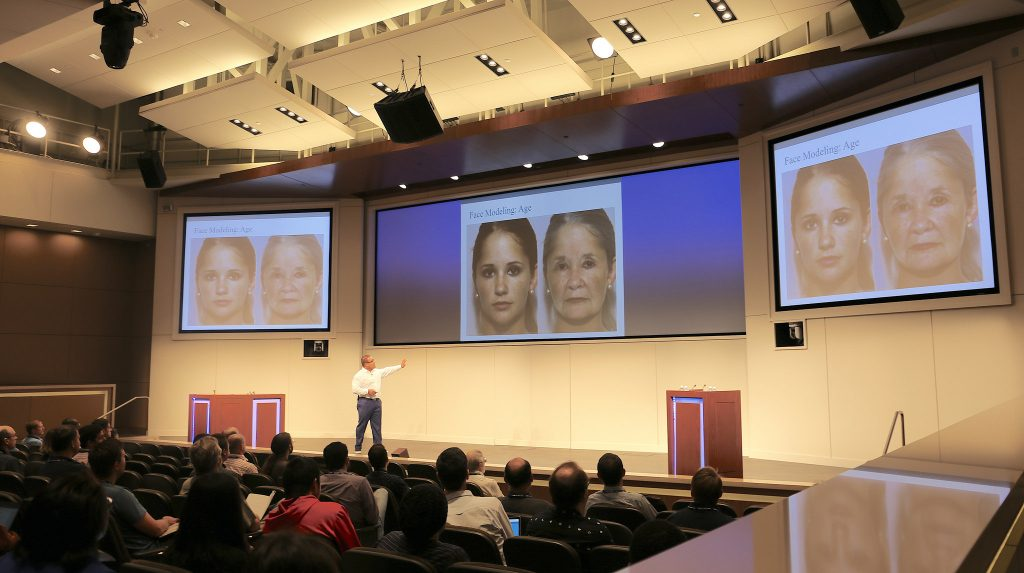 Karl Ricanek from UNC-Wilmington presents on facial recognition at the Deep Learning conference
