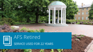 AFS Retired: Service used for 22 years