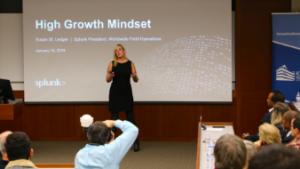 Splunk's Susan St. Ledger speaks to audience