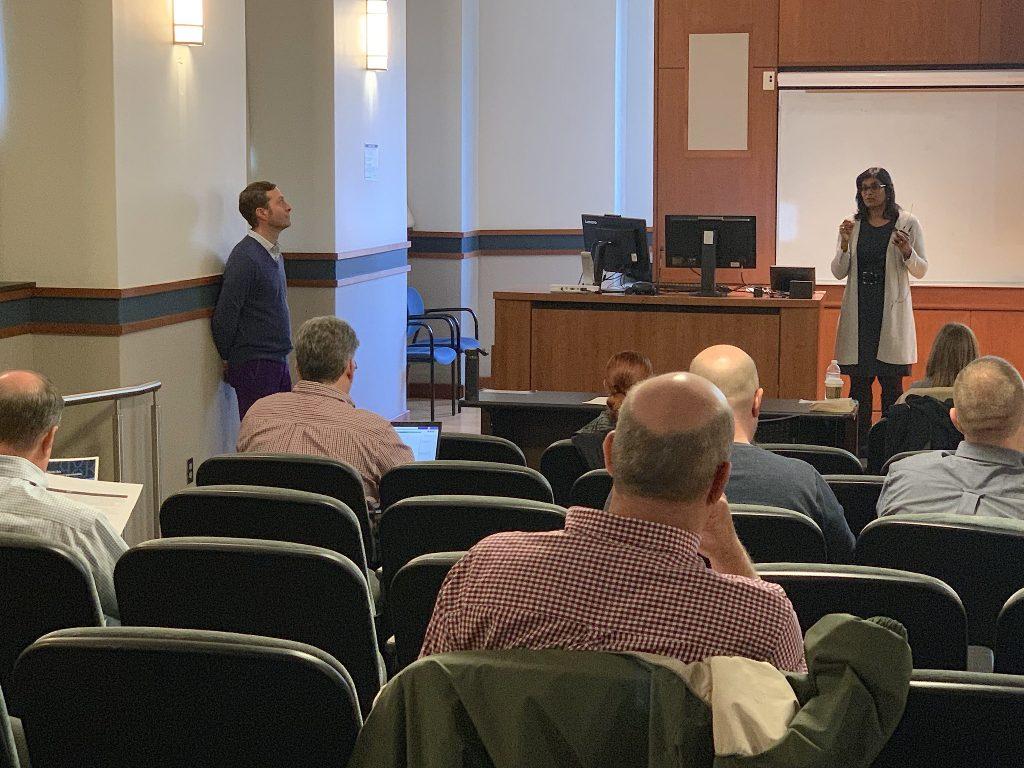 Brenda Carpen presents at a ServiceNow meeting