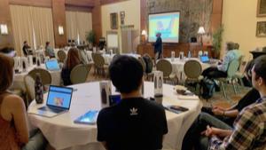 Workshop attendees listen to professor Eric Cornish