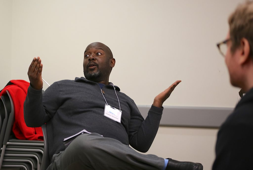 Charles Streeter discusses digital accessibility in a breakout group