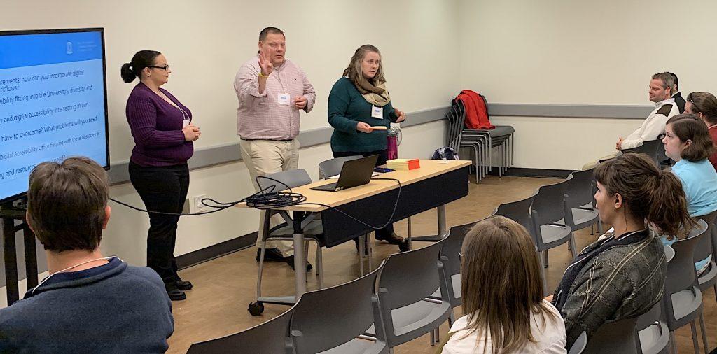 Kat Moore, Brad Held and Sarah Arnold present at the CTC Retreat