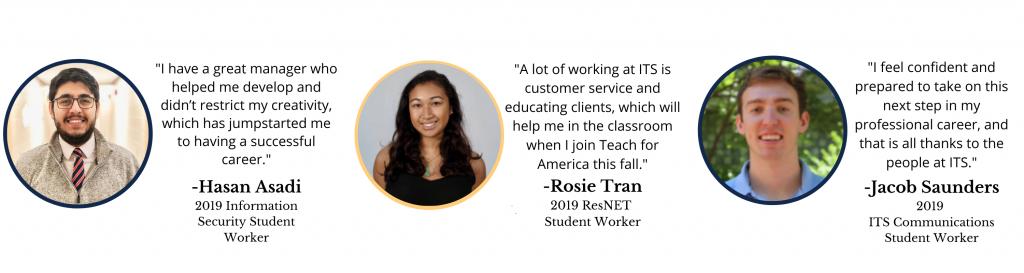 2019 Student Employee Testimonies