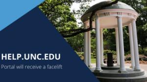 Help.unc.edu portal will receive a facelift