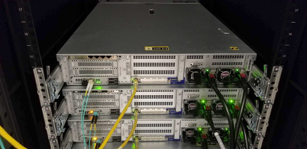 Stack of three patron nodes in ITS Manning data center