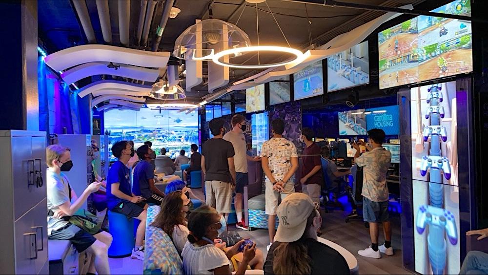 Gamers play at the Carolina Gaming Arena